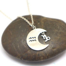 Load image into Gallery viewer, Zodiac and Moon Necklace Pendant