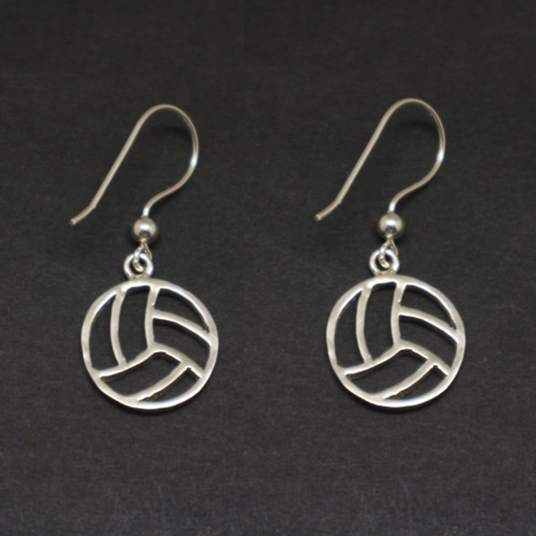 Silver Volleyball Earring