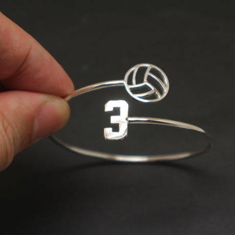 Volleyball Number Bracelet