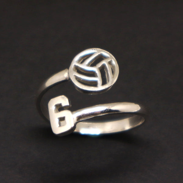 Custom Volleyball Number Ring