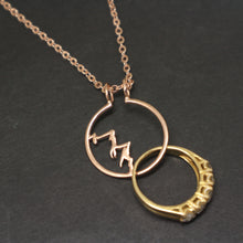 Load image into Gallery viewer, Mountain Ring Holder Necklace Pendant