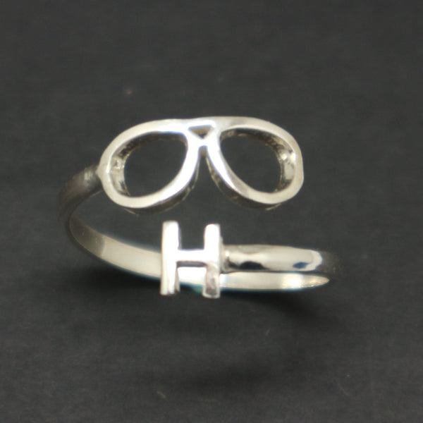 Personalized Initial Optometrist Ring