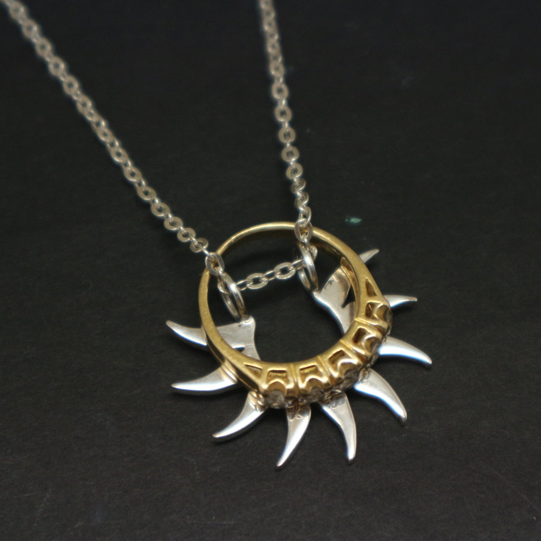 Sun Ring Holder Necklace