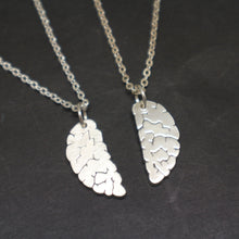 Load image into Gallery viewer, Silver Brain Neuroscience Couple Necklace for Neurologist