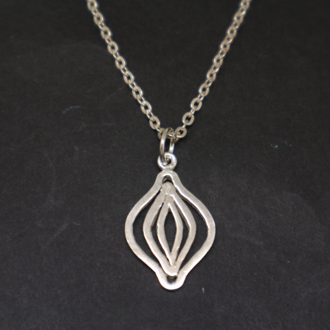 Silver Feminist Vagina Necklace