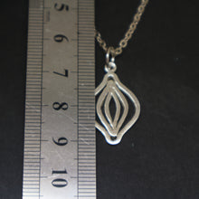 Load image into Gallery viewer, Silver Feminist Vagina Necklace