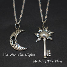 Load image into Gallery viewer, Bohemian Moon Sun Key Couple Necklace