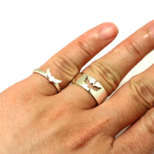 Load image into Gallery viewer, Silver Owl Promise Ring for Couples