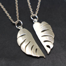 Load image into Gallery viewer, Monstera Leaf Couple Necklace