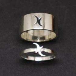 Bisexual Moon Promise Ring for Couples