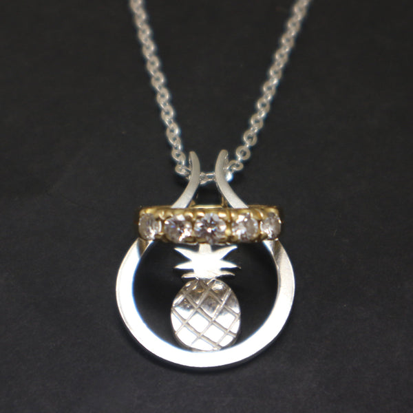 Pineapple Ring Holder Necklace