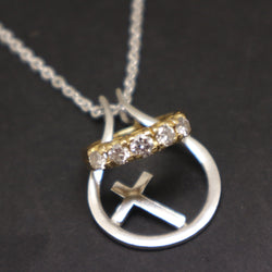 Silver Cross Ring Holder Necklace