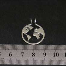 Load image into Gallery viewer, World Map Ring Holder Necklace