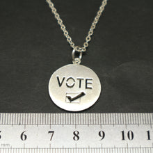 Load image into Gallery viewer, Silver Vote Necklace Pendant