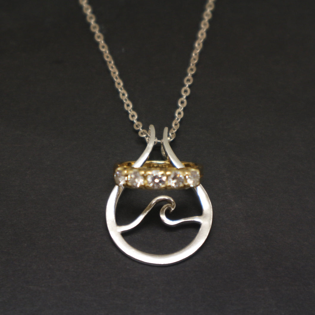 Wave Ring Holder Necklace