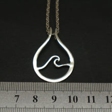 Load image into Gallery viewer, Wave Ring Holder Necklace