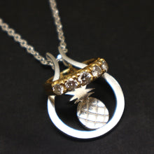Load image into Gallery viewer, Pineapple Ring Holder Necklace