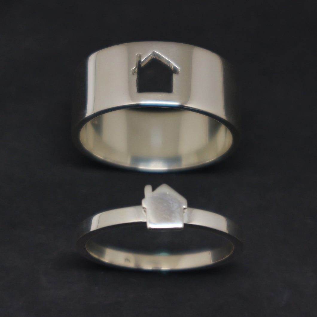 Silver House Promise Ring