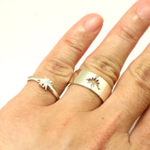 Load image into Gallery viewer, Stegosaurus Dinosaur Promise Ring for Couples