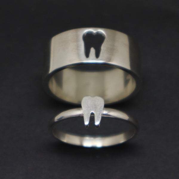 Dentist Teeth Promise Ring for Couples
