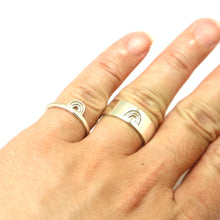 Load image into Gallery viewer, Rainbow Promise Ring for Couples
