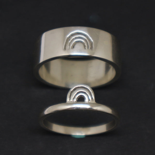Rainbow Promise Ring for Couples