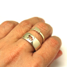 Load image into Gallery viewer, Silver Frog Promise Ring for Couples