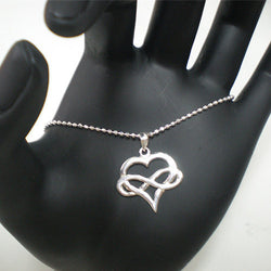 Polyamory Heart Infinity Necklace