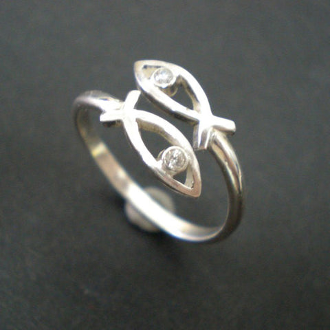 Jesus Ichthus Fish Ring