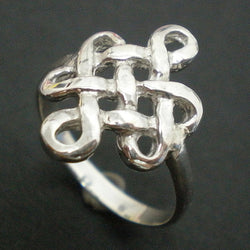 Chinese Mystic Knot Silver Ring