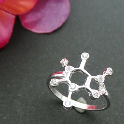Science Coffee Caffeine Molecule Ring