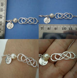 Personalize Pearl Double Infinity Bracelet