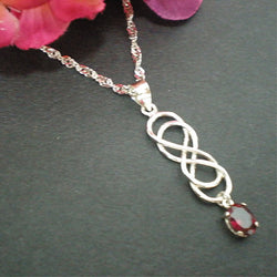 Celtic Double Infinity Necklace
