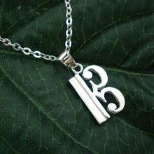 Load image into Gallery viewer, Alto C Clef Silver Pendant Necklace