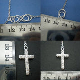 Double Infinity Cross Lariat Necklace