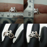 Sterling Silver Bicycle Ring