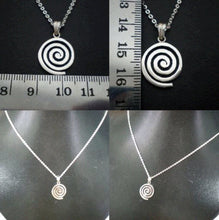 Load image into Gallery viewer, Celtic Single Spiral Necklace Pendant