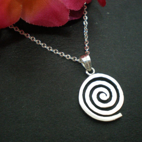 Celtic Single Spiral Necklace Pendant