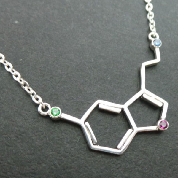 Serotonin Love Molecule Necklace