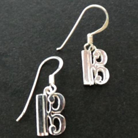Alto Clef Music Note Earring