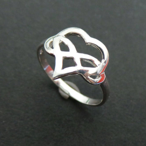 Polyamory Heart Infinity Ring