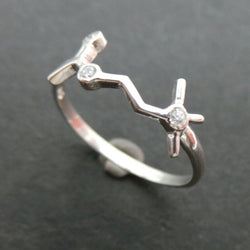 Science Acetylcholine Molecule Silver Ring