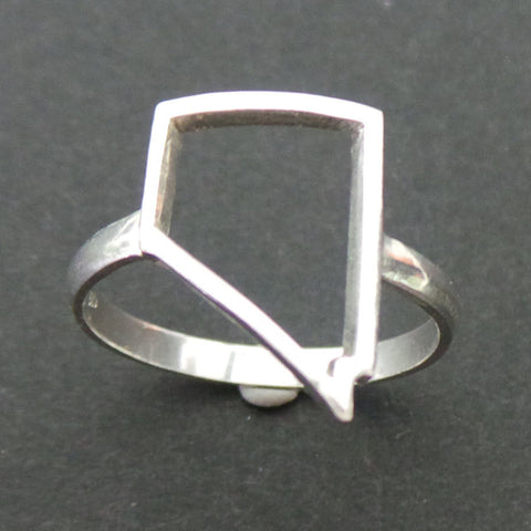 Nevada State Pride Silver Ring