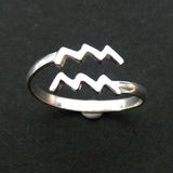 Aquarius Astrology Zodiac Sign Ring