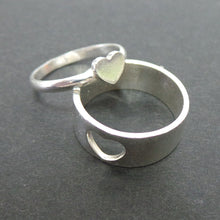 Load image into Gallery viewer, Silver Couple Set Promise Ring Set