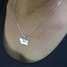 Load image into Gallery viewer, Silver Montana State Necklace