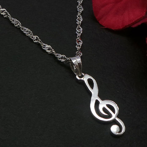 Music Note Treble Clef Necklace Pendant