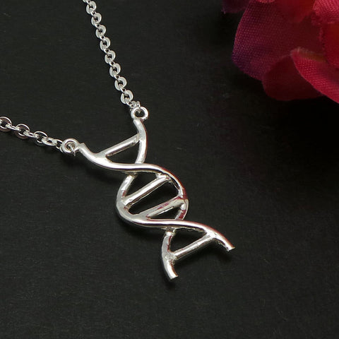 Sterling Silver DNA  Necklace