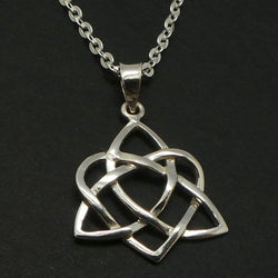 Silver Celtic Sister Knot Necklace