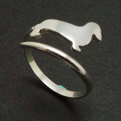 Dog Dachshund Wrap Ring